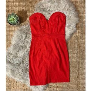 Retro Red Body-con Dress